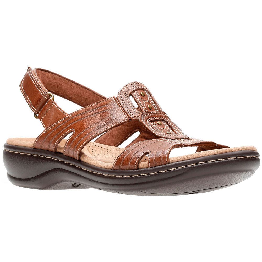 Leisa Vine Sandal in Tan Leather