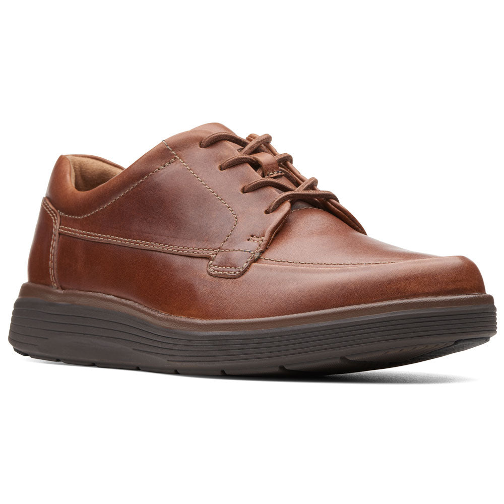 Un Abode Ease in Dark Tan Leather from Clarks found at Mar-Lou Shoes