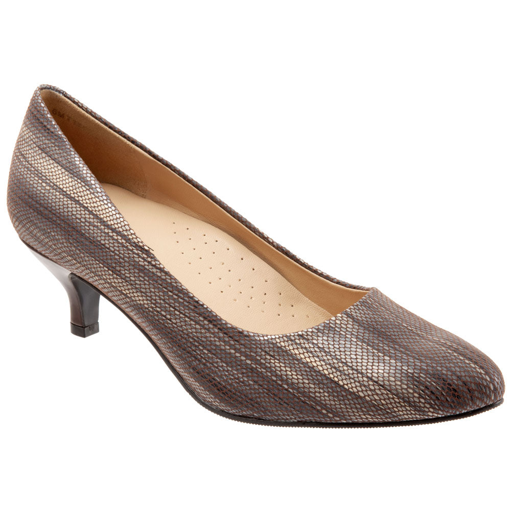 Kiera Heel in Taupe Leather