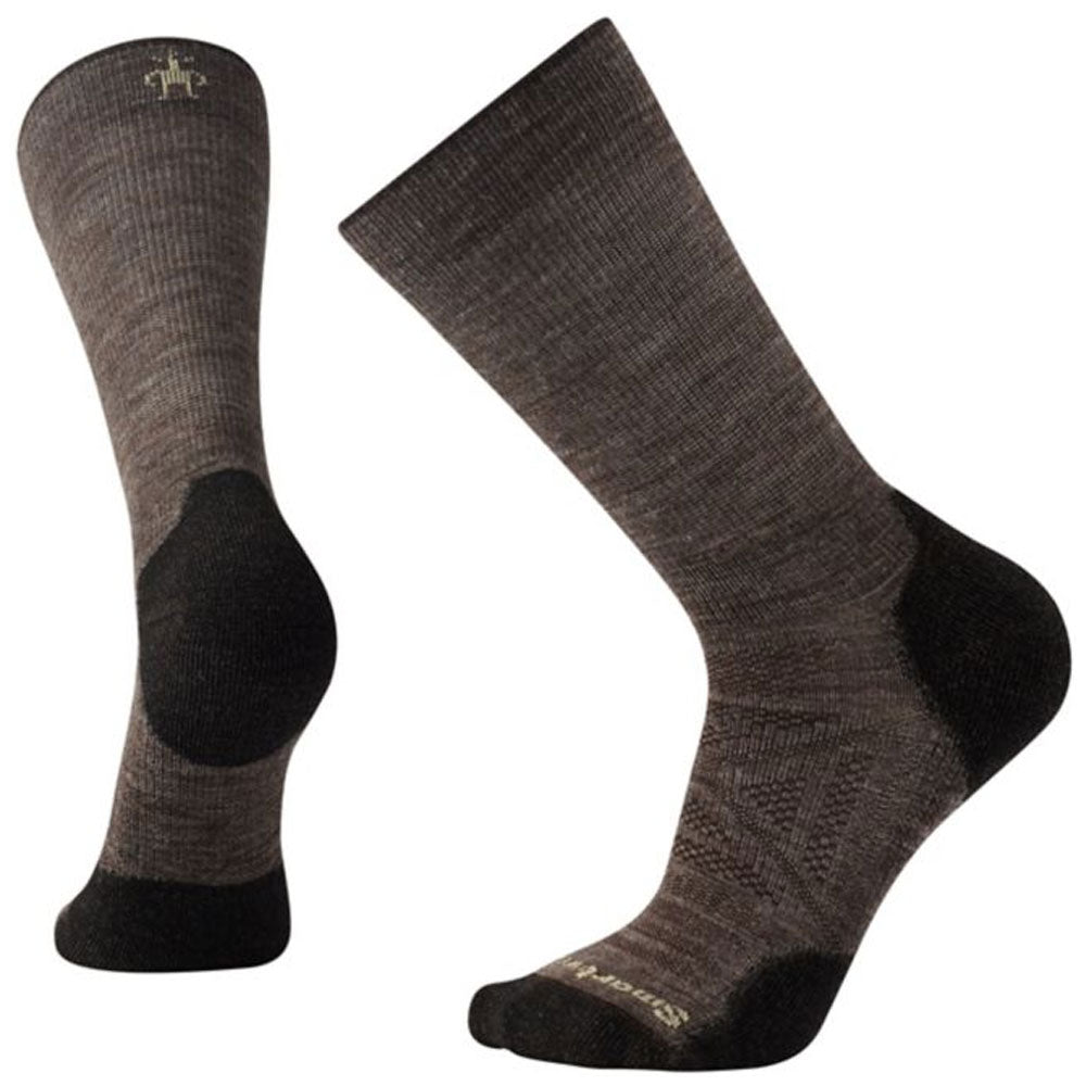 Smartwool Men's PhD® Outdoor Light Hiking Crew Socks in Taupe at Mar-Lou Shoes