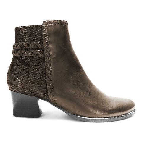 Isabel 54 Boots in Taupe/Dark Brown Delice Leather Leather Combi