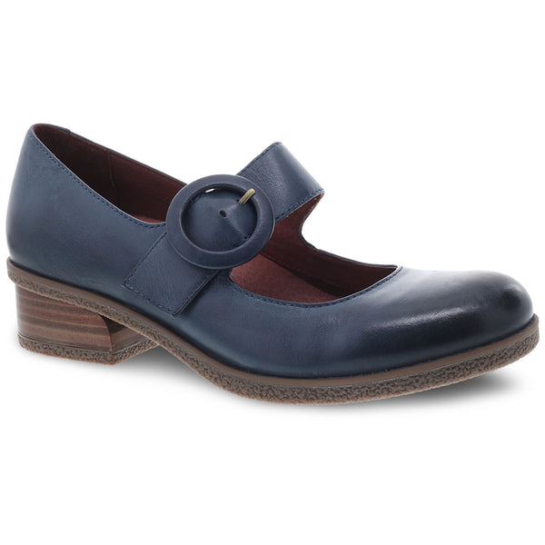 Dansko Brandy in Teal Waterproof Burnished Leather at Mar-Lou Shoes