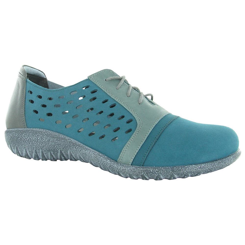 Naot Lalo in Teal Nubuck at Mar-Lou Shoes