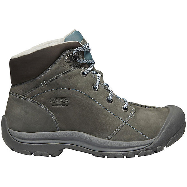 Keen Kaci Winter Waterproof Mid Boot in Turbulence/Stormy Weather Leather at Mar-Lou Shoes