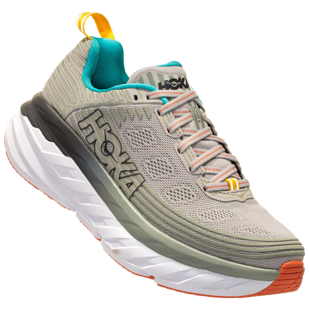 Women's Bondi 6 in Vapor Blue/Wrought Iron by Hoka One One found at Mar-Lou Shoes
