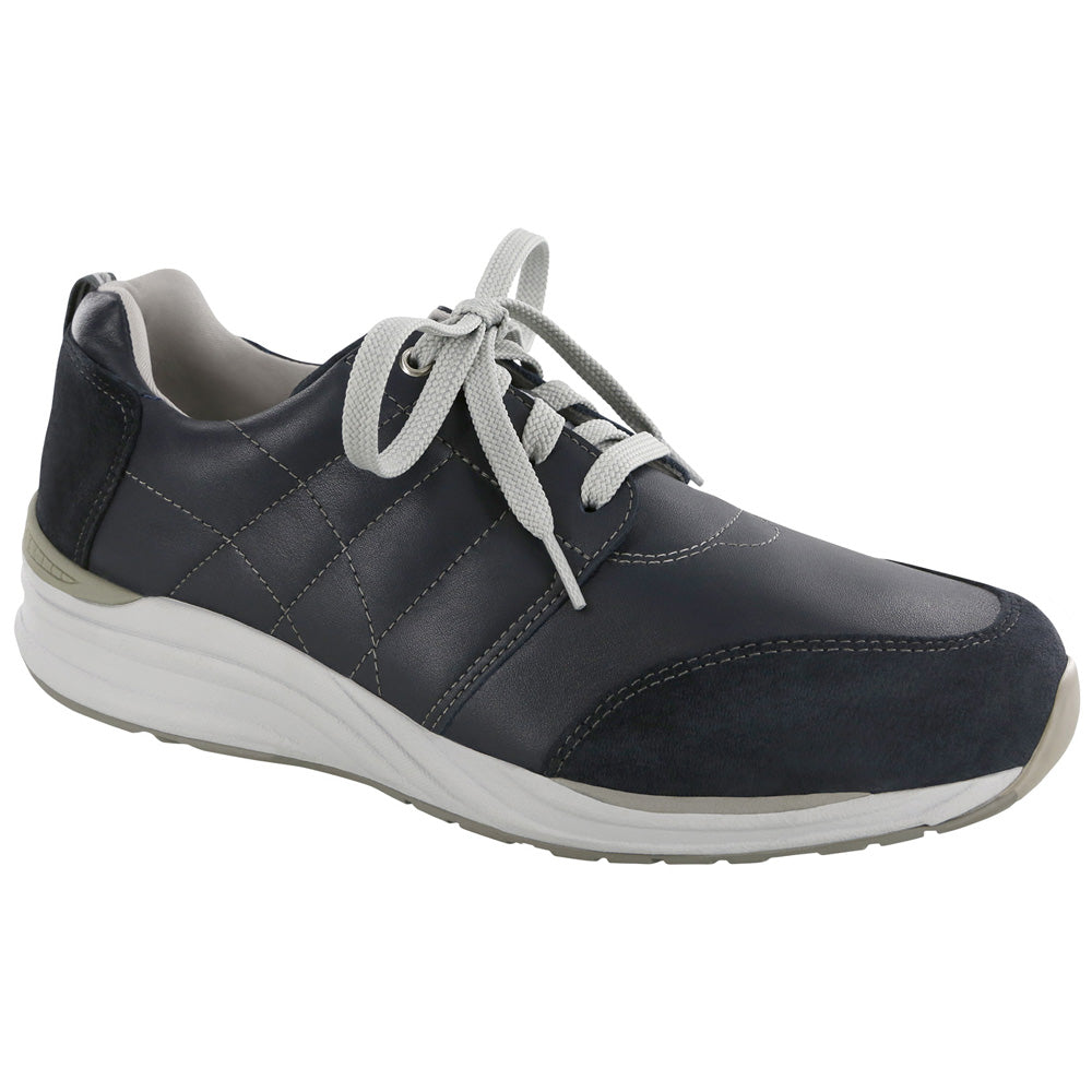 SAS Venture in Navy Leather at Mar-Lou Shoes