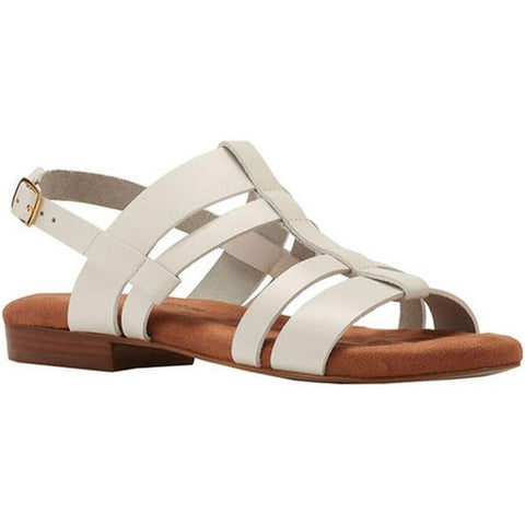 Frisky Sandal in White Leather