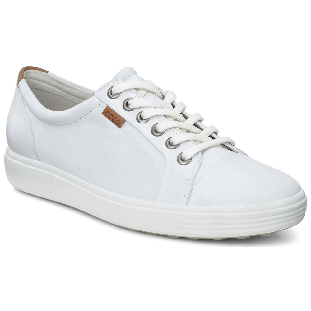 ECCO Women's Soft 7 Sneaker in White Leather at Mar-Lou Shoes