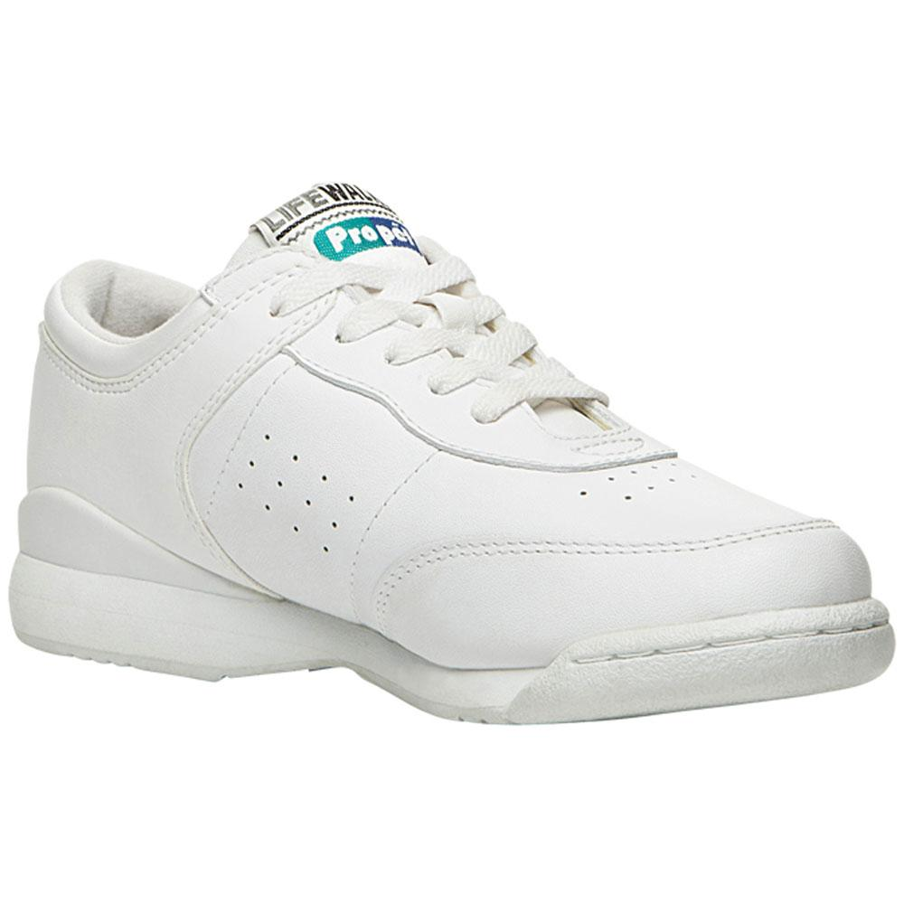 Propet Life Walker in White at Mar-Lou Shoes