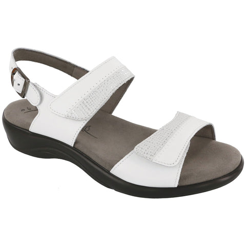 Nudu Sandal in White Leather