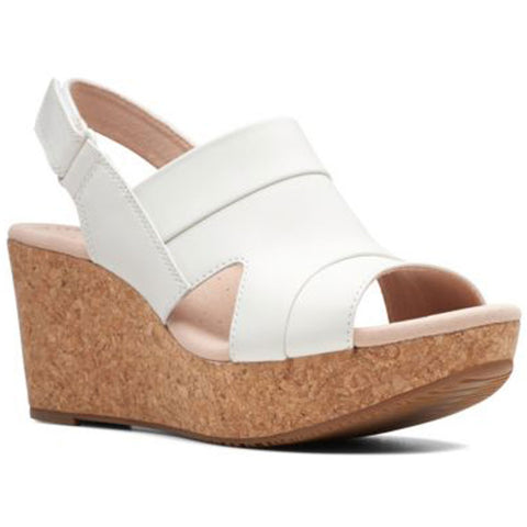 Annadel Ivory Sandal in White Leather