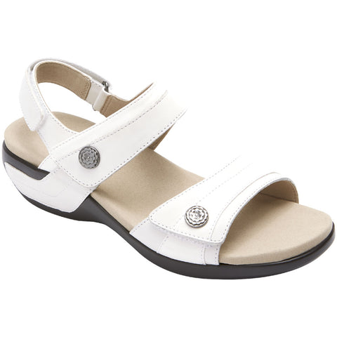 Aravon Katherine Sandal in White Multi at Mar-Lou Shoes