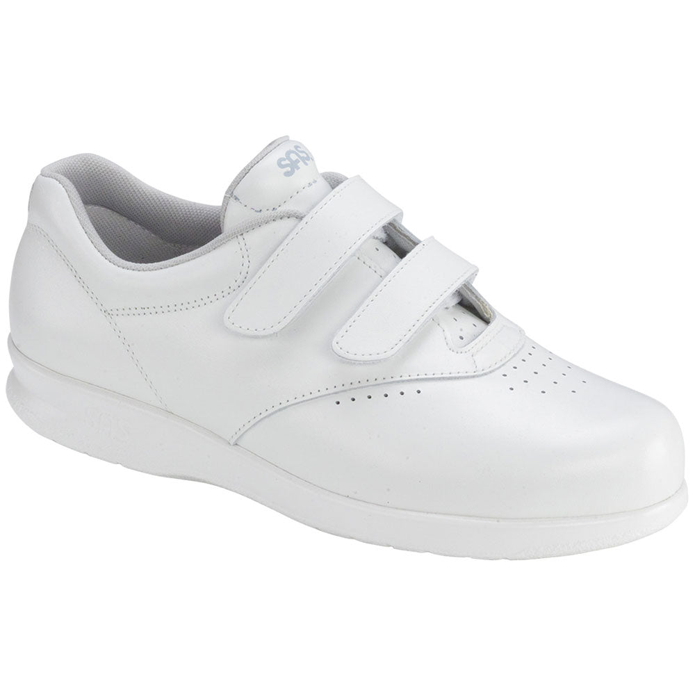 SAS Me Too in White Leather at Mar-Lou Shoes