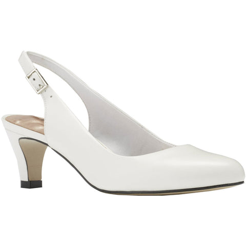 Jolly Pump in White Leather