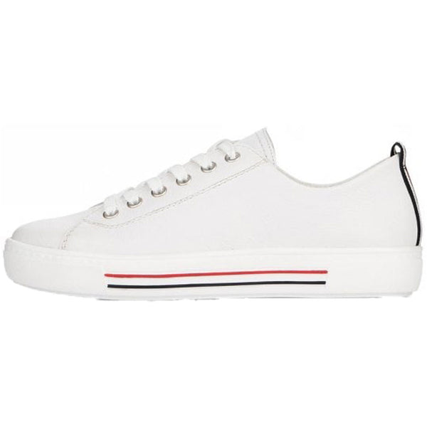 Remonte D0900 in White Leather at Mar-Lou Shoes
