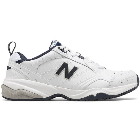 New Balance Men's 624 in White with Navy at Mar-Lou Shoes