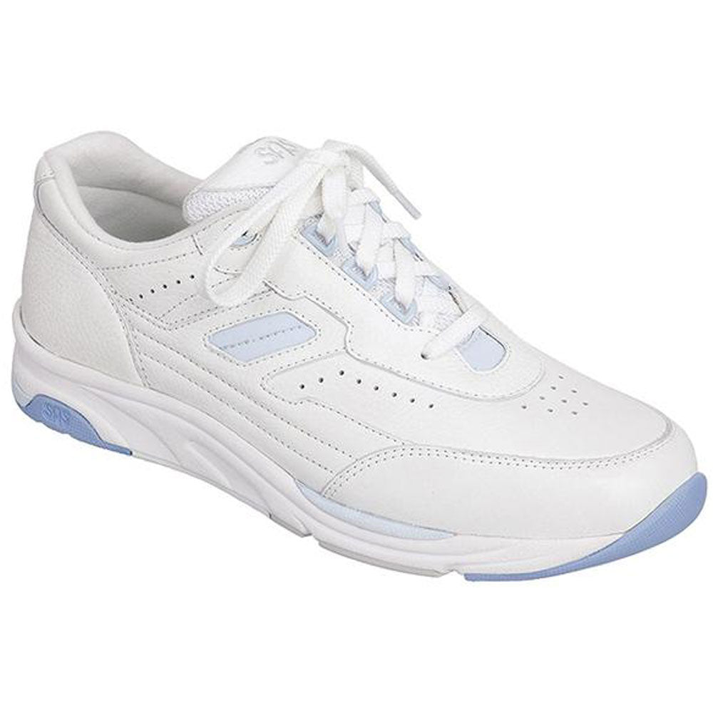 SAS Tour in White/Blue Leather at Mar-Lou Shoes