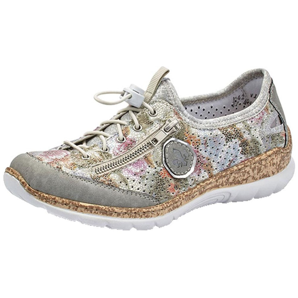 Rieker N42V1 in White Multi at Mar-Lou Shoes