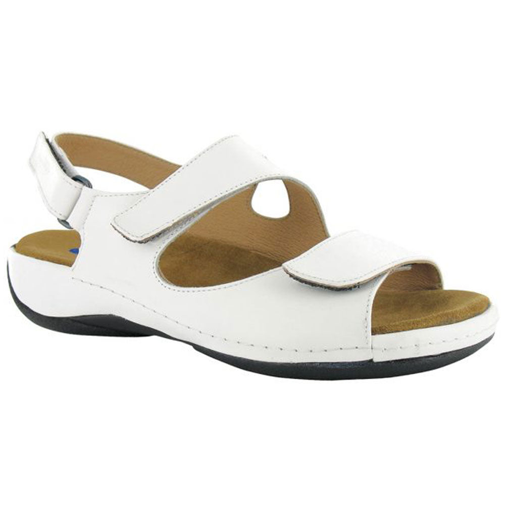 Liana Sandal in White Smooth Leather