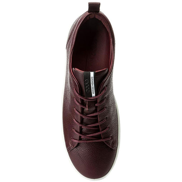ECCO Women's Soft 8 Sneaker in Bordeaux Leather at Mar-Lou Shoes