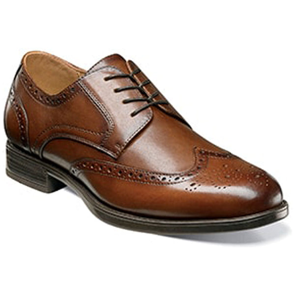 Midtown Wingtip Oxford in Cognac Leather