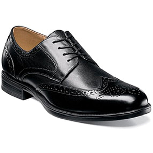 Midtown Wingtip Oxford in Black Leather