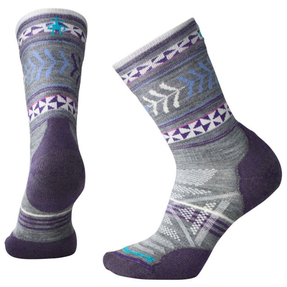 PhD® Outdoor Light Pattern Crew Socks in Grey