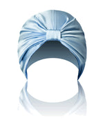 SILK HAIR WRAP in Powder Blue