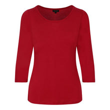 FYNERY 3/4 Sleeve scoop neck in RED