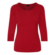 3/4 Sleeve scoop neck in RED *WAS £75*