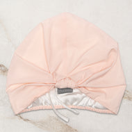 SILK LINED SHOWER CAP IN PEACHES & CREAM