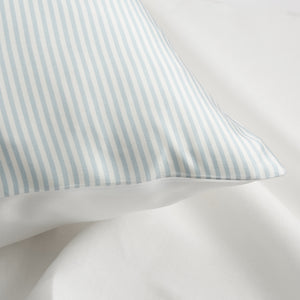 CLASSIC BLUE SILK STRIPES PILLOWCASE (22 momme)