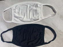 PURE SILK JERSEY FACE MASKS X 2 (Black and White)