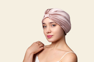 SILK HAIR WRAP in Damask Pink