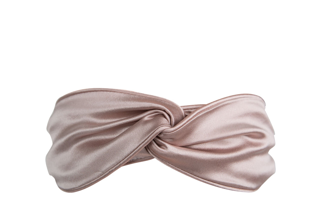SILK HEADBAND (Damask Pink)