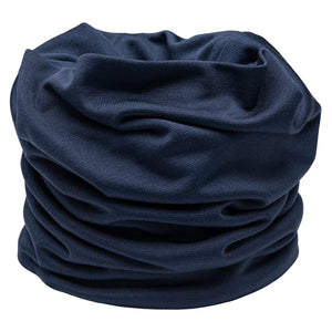 'SILK SNOOD' FACE MASK - FRENCH NAVY