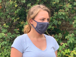 PURE SILK JERSEY FACE MASK x 2 (Charcoal grey)