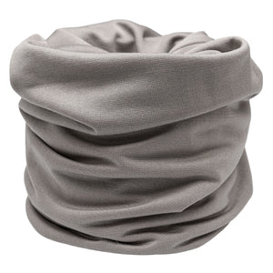 'SILK SNOOD' FACE MASK - STONE