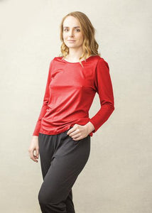 FYNERY Full sleeve scoop neck in RED