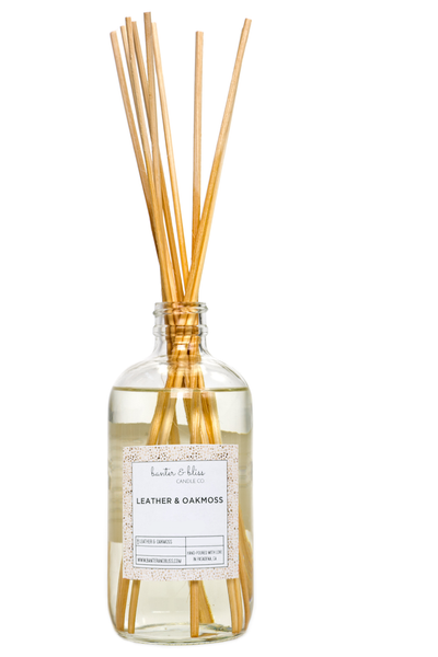LEATHER & OAKMOSS. Reed Diffuser.