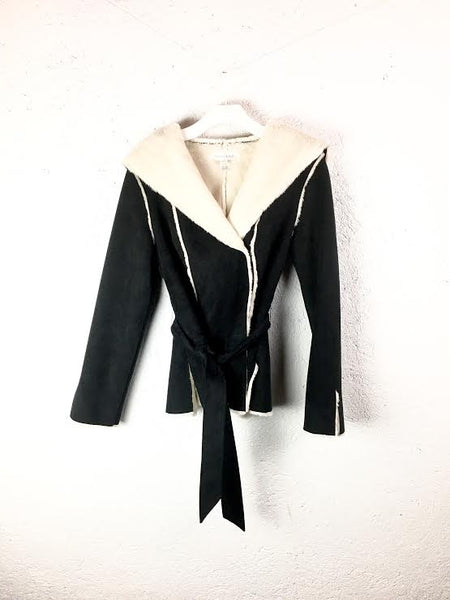 White House Black Market Faux Suede Coat