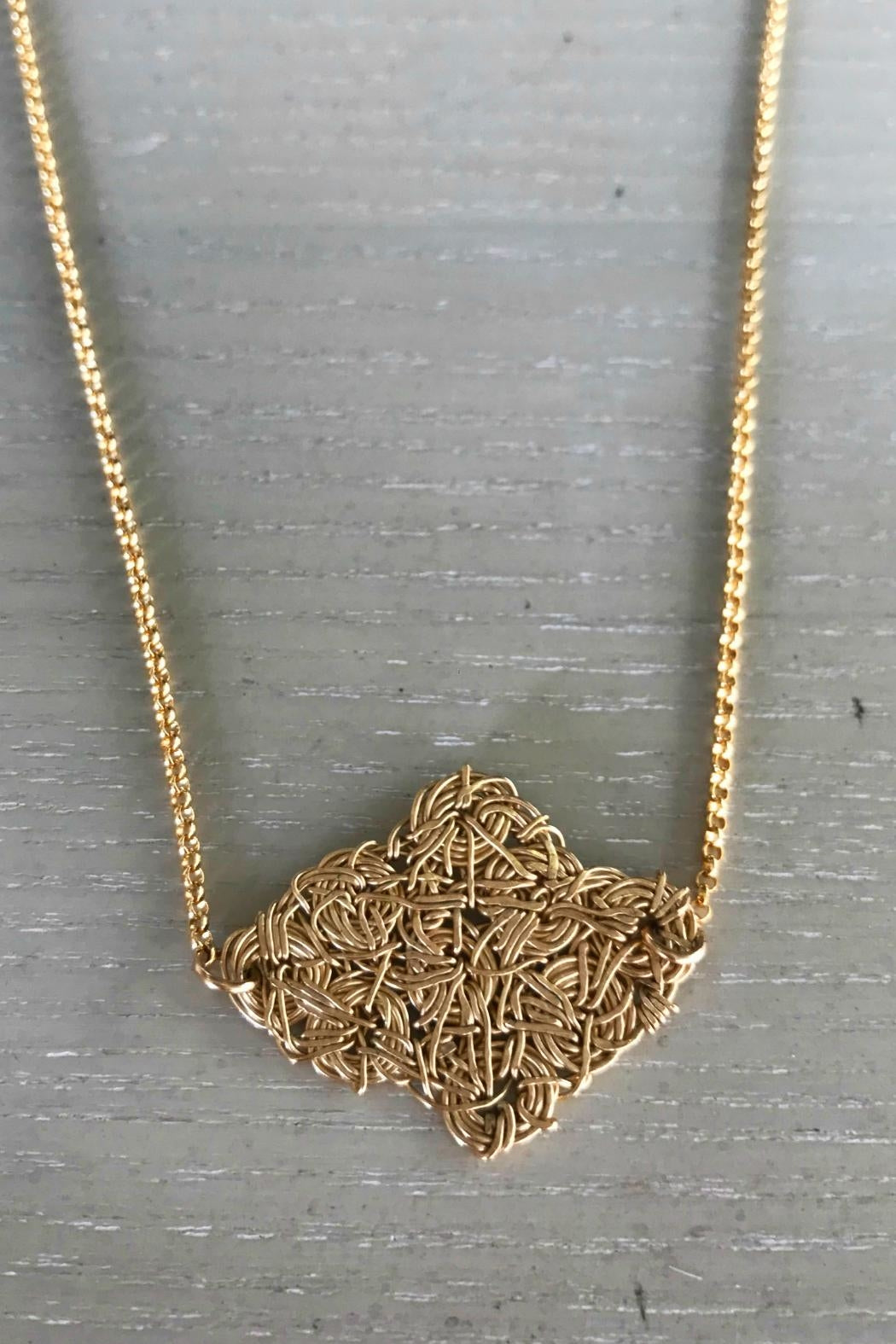 Twisted Gold Necklace