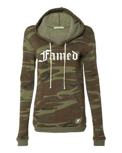 Womens Famed Camo Pullover Hoodie