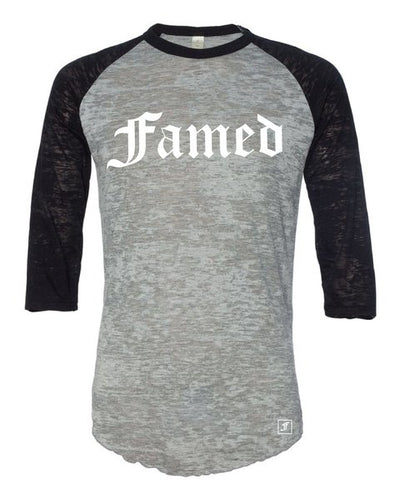 Famed Burnout Unisex Baseball Tee