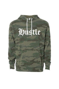 HUSTLE Camo Pullover Hoodie