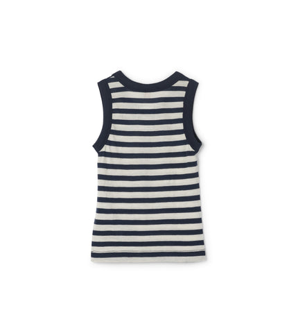 Baby Journey Merino Tank - Blue Stripe