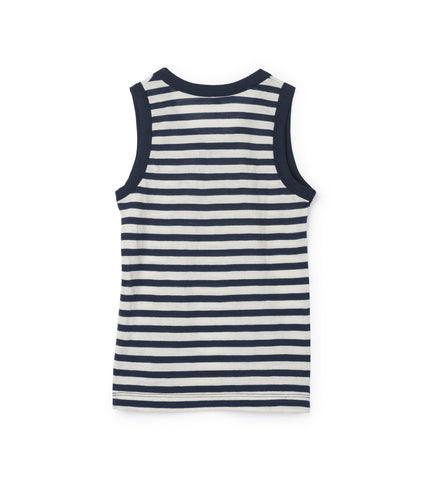 Journey Merino Tank - Blue Stripe