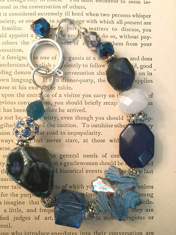 Blues and Snowflake Bracelet