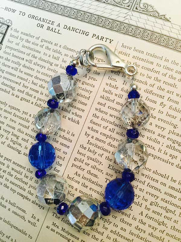 Blue and Clear AB Bracelet