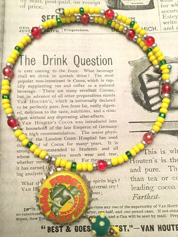 Bottle Cap Necklace - Bad Frog